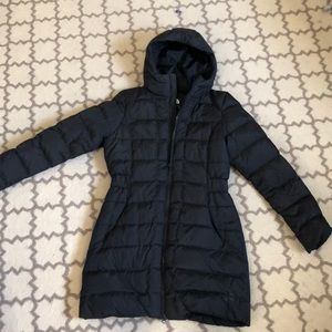 Women's North Face Black Down Parka